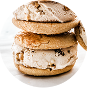 parmesan sables ice cream